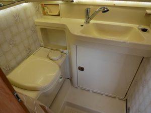 Motorhome toilet and sink