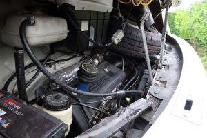 Engine of Fiat Hymer B644