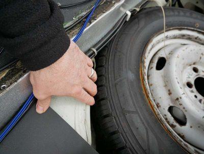 Spare wheel area